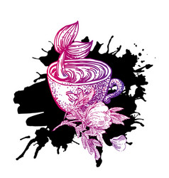 tattoo style sketch vector image vector image