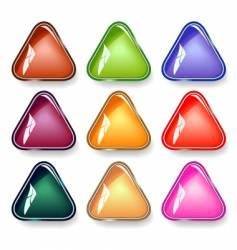 triangular buttons vector image vector image