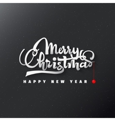 Merry christmas and happy new year 2017 lettering vector