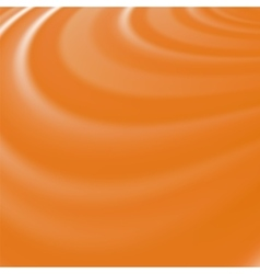 Orange waves smooth swirl background vector