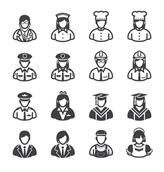 People icons occupation icons vector