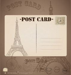 Vintage postcard designs vector