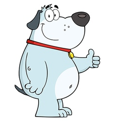 Friendly cartoon dog vector