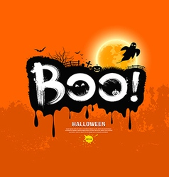 Halloween message boo design vector