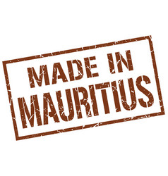 Made in mauritius stamp vector