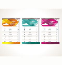 Web user interface elements menu mobile apps vector