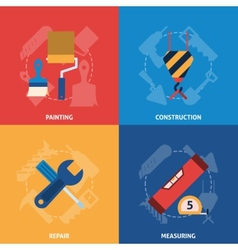 Home repair tools icons composition vector image