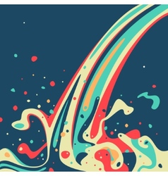 Wave of color paint vector