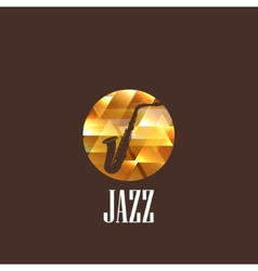 With saxophone icon vector