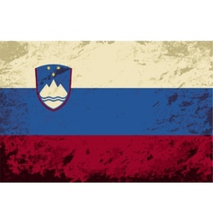 Slovenian flag grunge background vector