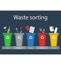 Waste sorting for recycling vector