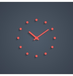 Red simple watches with shadow vector