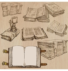 Books pack of an hand drawn vector