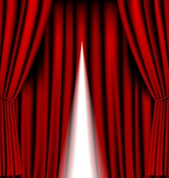 Opening red curtain vector