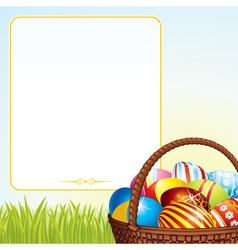 Spring easter basket vector
