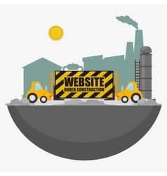 Website under construction design vector