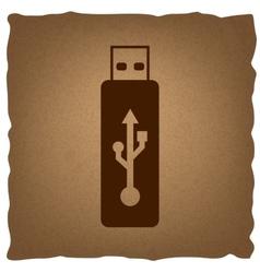 Usb flash drive sign vector