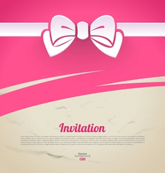 Abstract elegant design with paper bow vector image