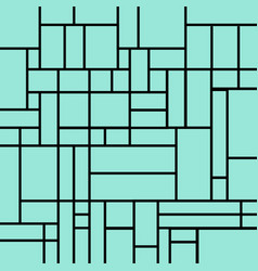 Abstract squares pattern on a light blue vector