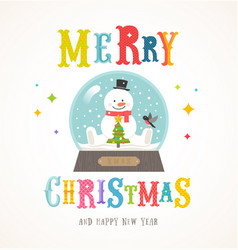 cartoon flat style colorful christmas design vector image vector image