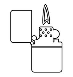 cigarette lighter black color icon vector image vector image