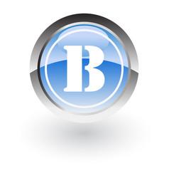 Circle lettre b icon logo vector