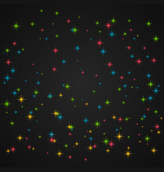 Colorful glitter in dark background vector