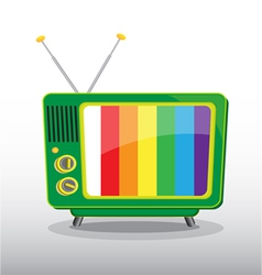 colorful retro television vector image vector image
