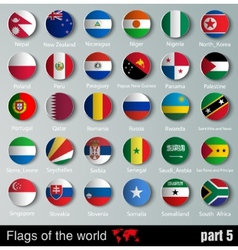 Flags of all countries vector image vector image