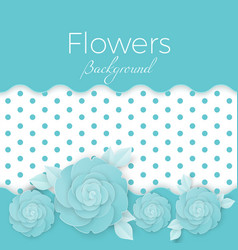 Flowers background with dotted center paper vector