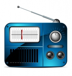 FM radio icon vector image