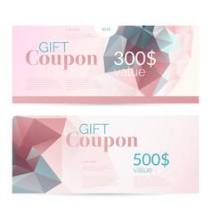Gift voucher and original flyer for discount low vector