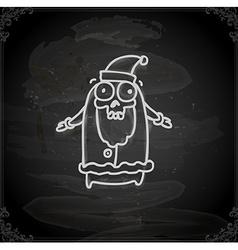 Hand Drawn Skeleton Santa vector image vector image