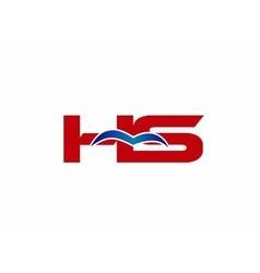 Hs logo graphic branding letter element vector