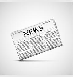Icon newspaper latest news vector