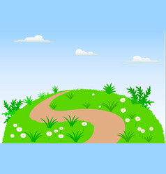 Landscape scene background vector