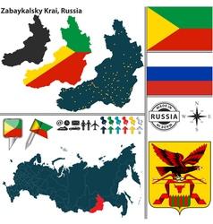 Map of krai of zabaykalsky vector