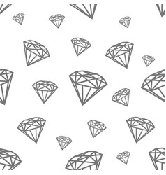 modern seamless pattern with diamonds black vector image