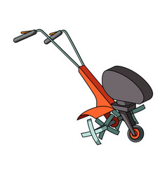 mowers for cutting grass and lawn agricultural vector image vector image