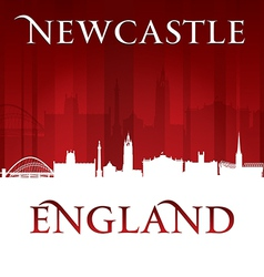Newcastle England city skyline silhouette vector image