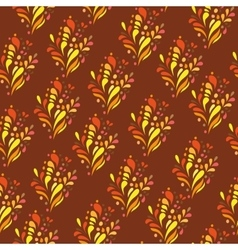 Orange ornament - seamless pattern dudling vector image