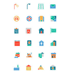 Real Estate Flat Icons 6 vector image