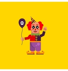 Scary clown for halloween in a flat style vector