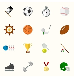Set of sport icons in flat design vector image vector image