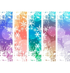 Set with four vertical winter banners vector image