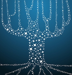 Tree of life stars concept vector image vector image