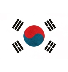 True proportions South Korea flag with texture vector image vector image