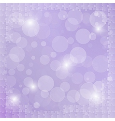 Violet background with puzzle vector