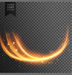Wavy transparent light effect vector