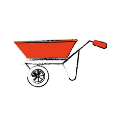 Wheelbarrow construction tool vector